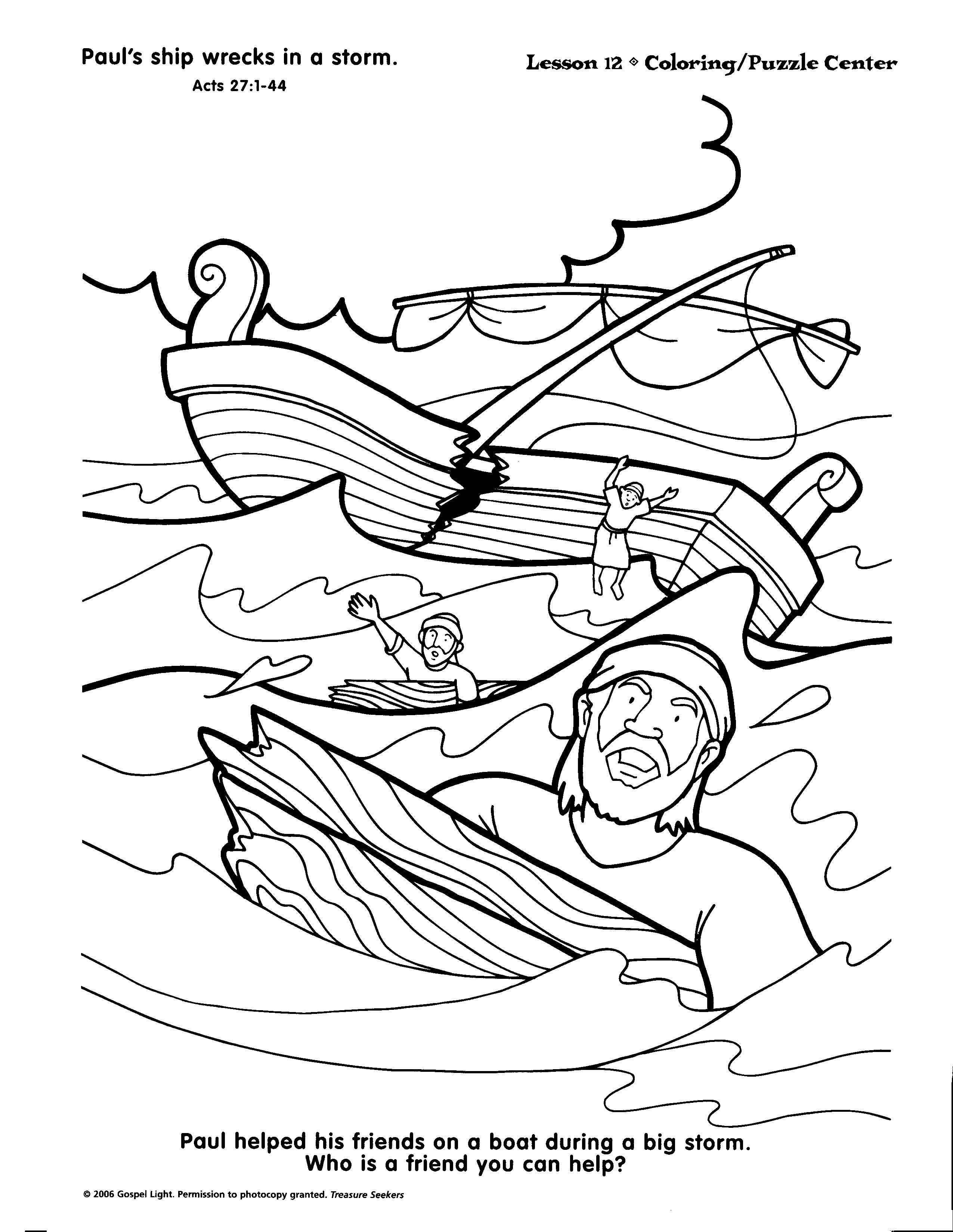 Paul In Rome Coloring Pages