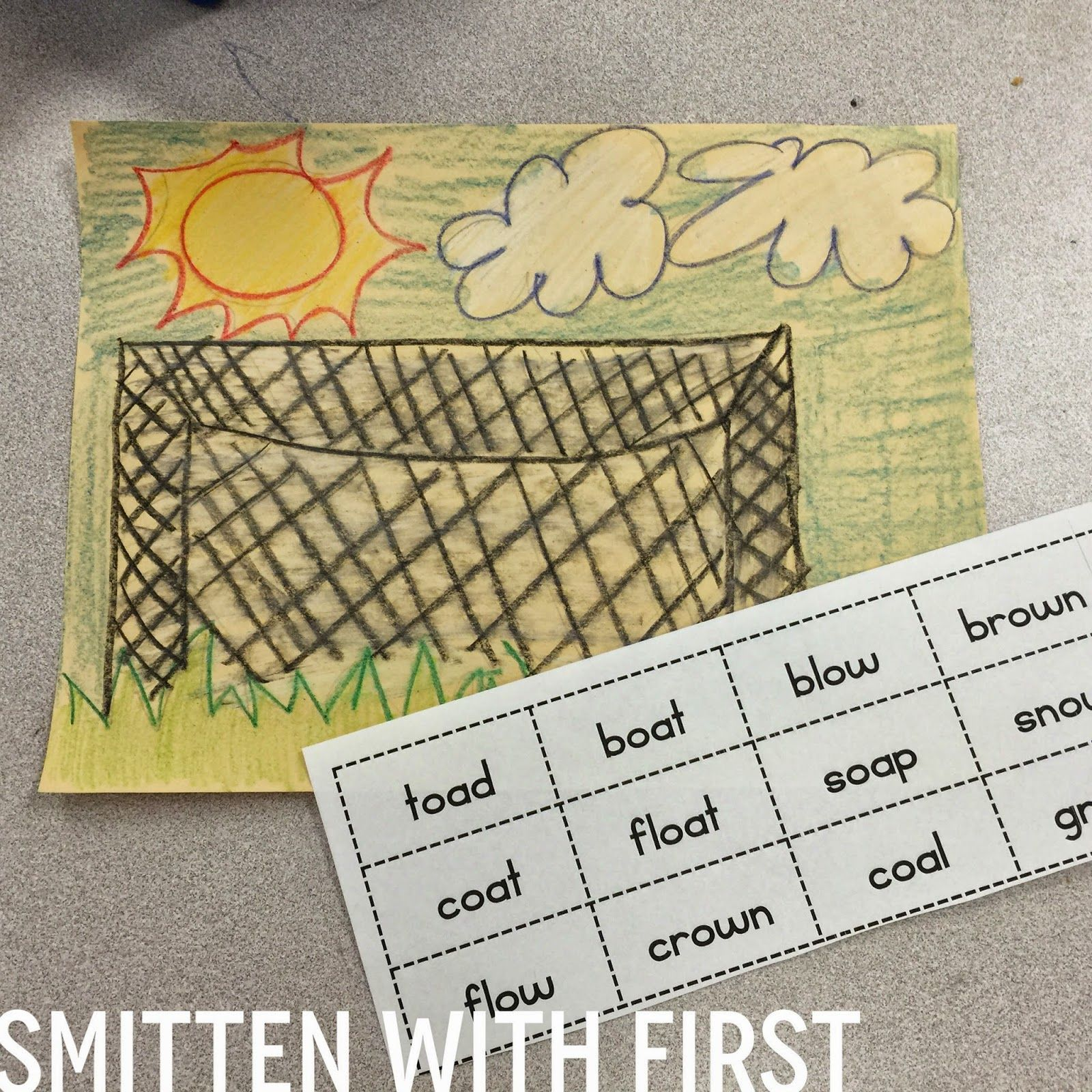 Smitten With First More Vowel Team Freebies Oa Ow Word