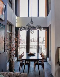 Salas de jantar em estilo contemporaneo also contemporary apartment in brooklyn new york elegant interior rh pinterest