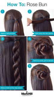 vingle - diy rose bun hair tutorials