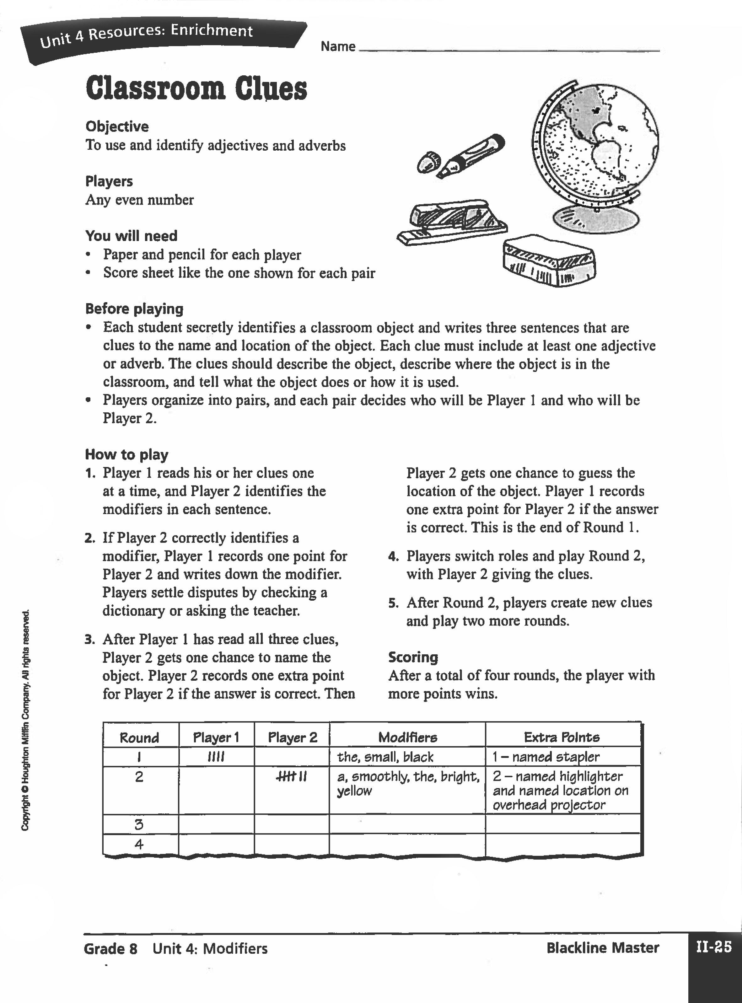 Download This Fun Grammar Printable For Grammar Practice