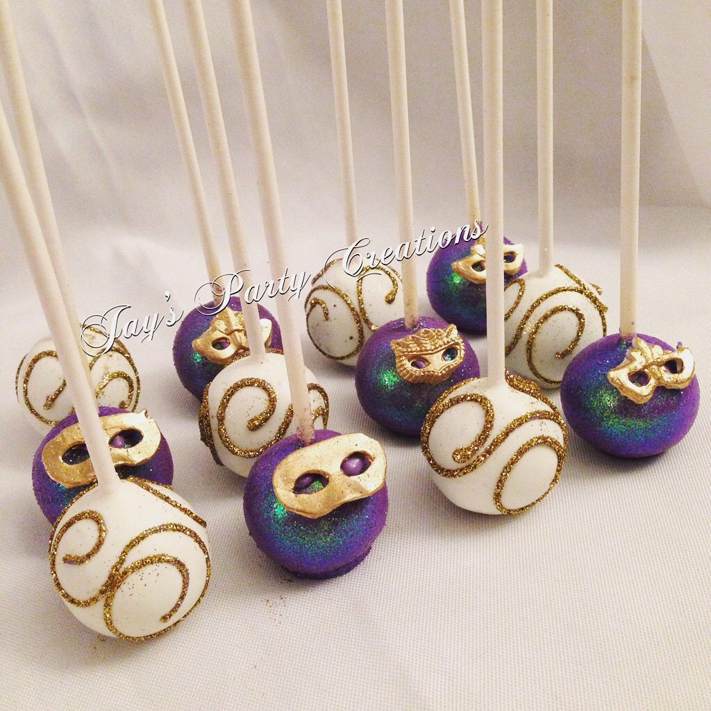 Masquerade Themed Cakepops