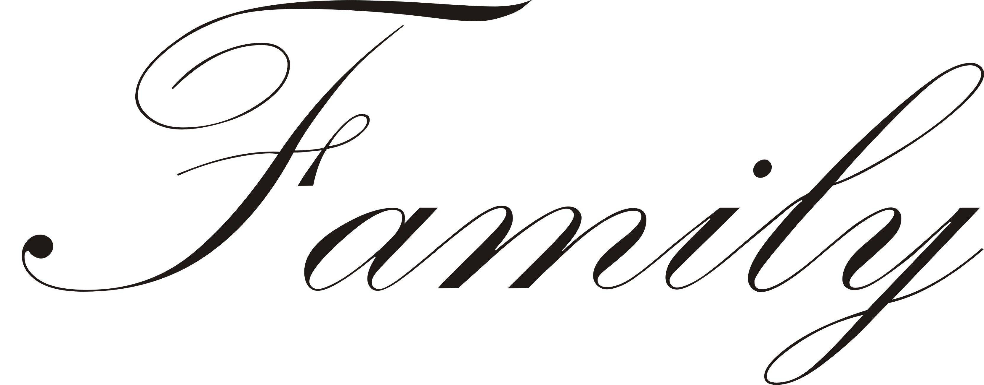 The Word Family In Cursive