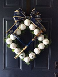 Baseball theme front door decoration. Go Brewers ...