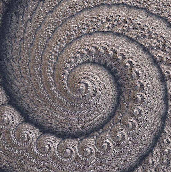 Silver Spiral- 3d Fractal Fractals Mandalas Spirals