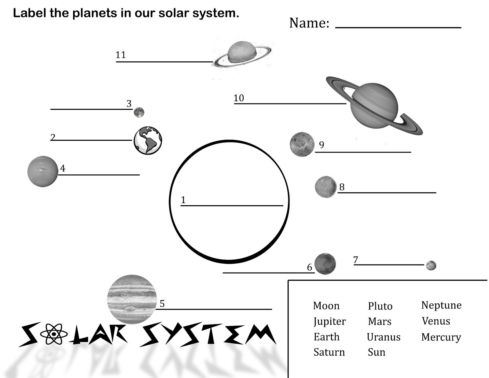 Collection of Solar System Worksheets 3rd Grade