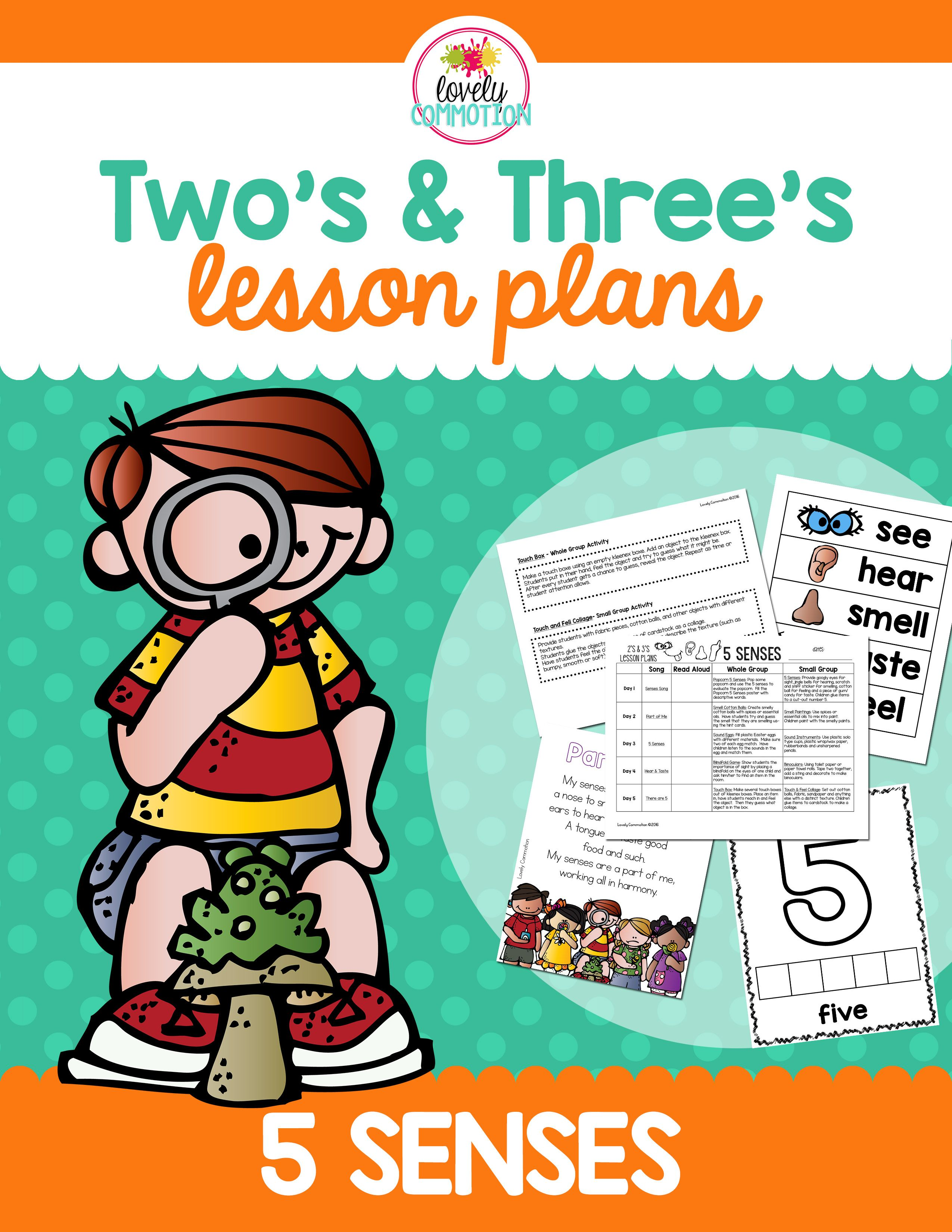 5 Senses Lesson Plan For 2 And 3 Year Olds