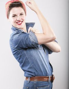 Diy halloween also homemade rosie the riveter costumes rh pinterest