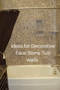 Ideas for easy to install DIY decorative faux stone tub ...