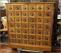 Antique Library Card Catalog Cabinet | Home Design Ideas ...