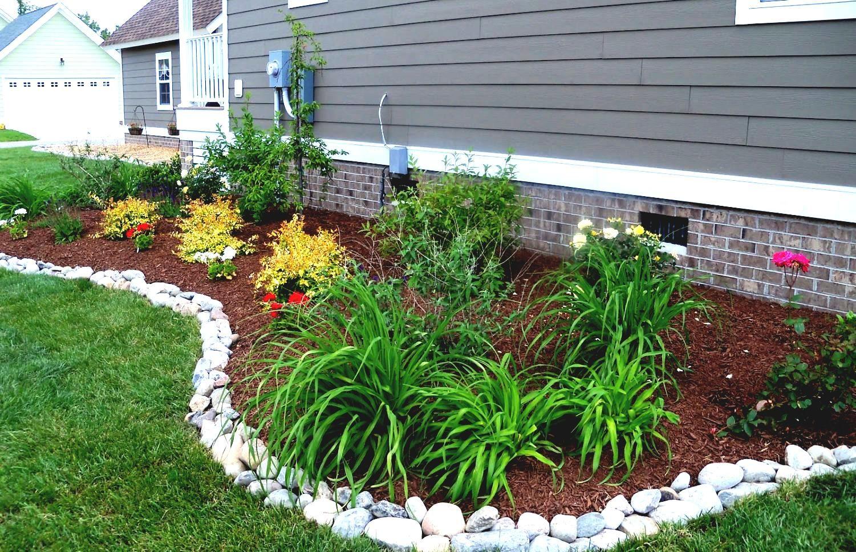 Landscape Edging Stone Ideas Garden Plastic Rock Landscaping