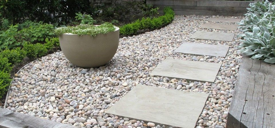 Paving Slabs In Stones Shaded Backyard Ideas Pinterest