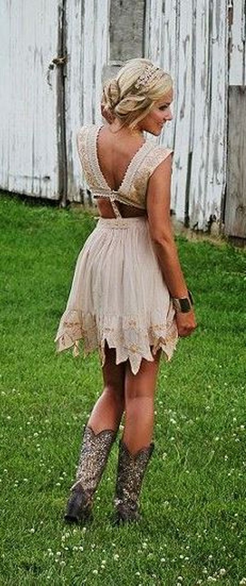 Western Bridesmaid Dresses Boots