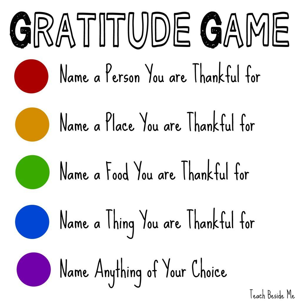 Play The Gratitude Game This Thanksgiving