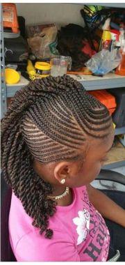 little girls braided mohawk hairstyles