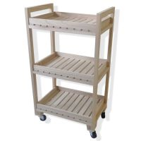 Purchase the Natural 3-Tier Wood Rolling Cart By ArtMinds ...