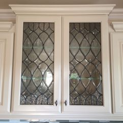 Glass Door Kitchen Cabinet Easy Designer Beveled Inserts For My Cabinets Done By Sgo
