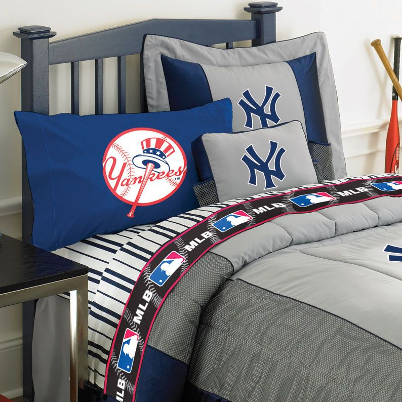 Ny yankees under mlb bedding room decor  accessories new york true love baseball the pinterest boys queen size and also rh