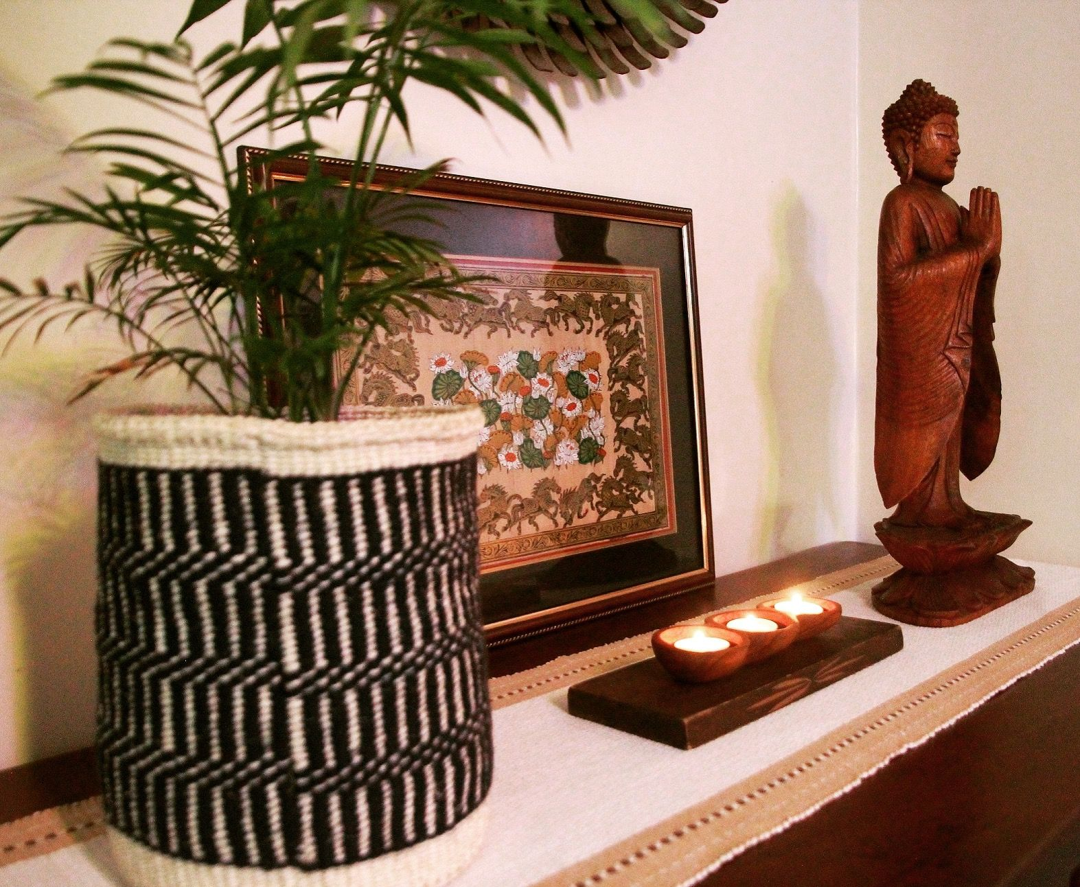 Zen Corner Of Our Home!! Balinese Buddha, Indian Pata