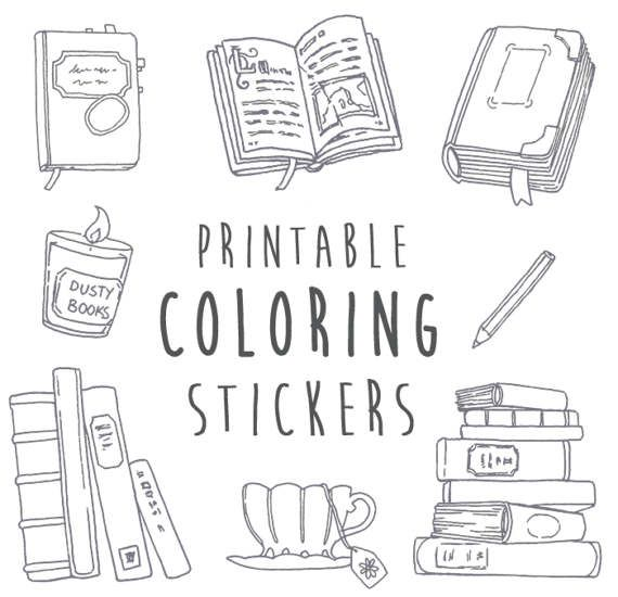 A printable version of my Book & Planner stickers for