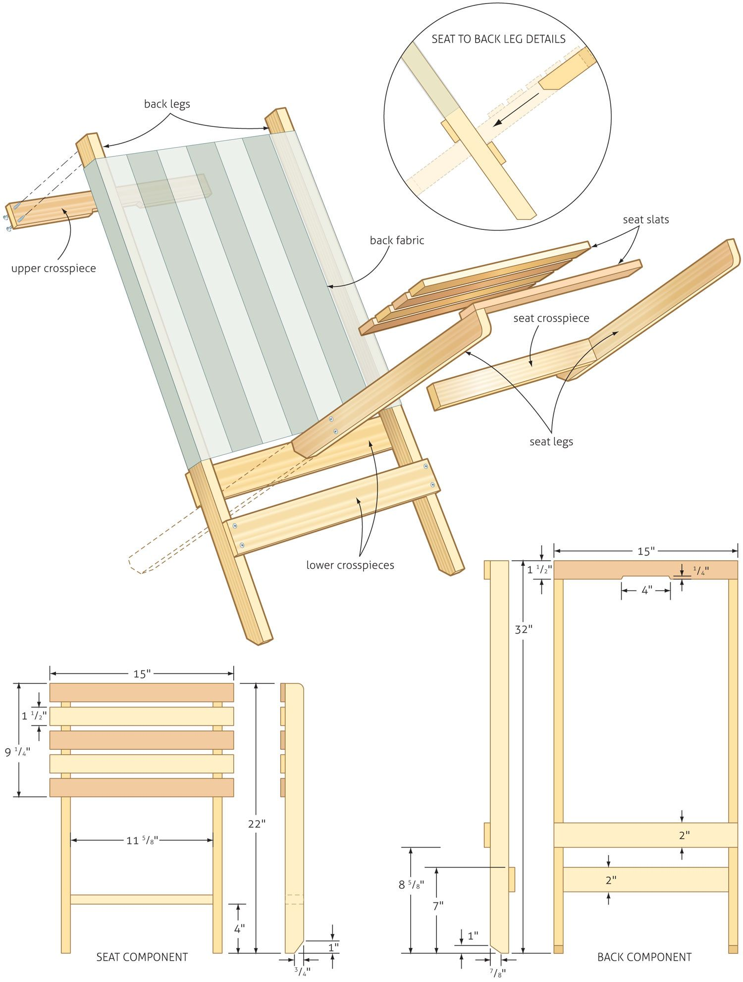folding chair plans lower back support for beach woodworking woodshop