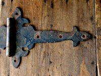 Antique Strap Hinges Pair Vintage Gothic Style Iron by ...