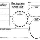 Students fill in character traits about