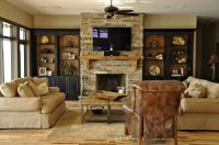 built in entertainment centers with fireplace | Bookcases ...