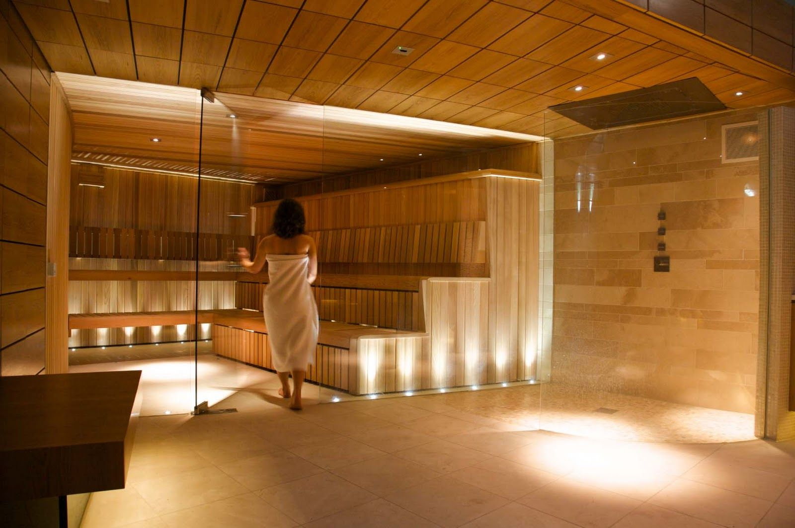 commercial saunas  The steam room and spa areas are
