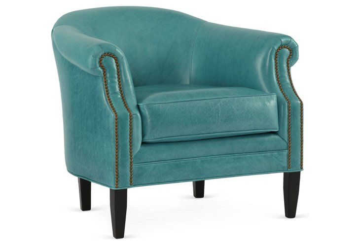 turquoise chairs leather off white chair hyde home decor pinterest accent