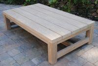 Wood Teak Outdoor Coffee Table | Wood table rustic ...