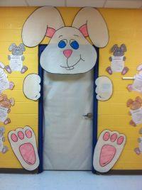 Easter bunny door decoration in kindergarten   Spring has ...