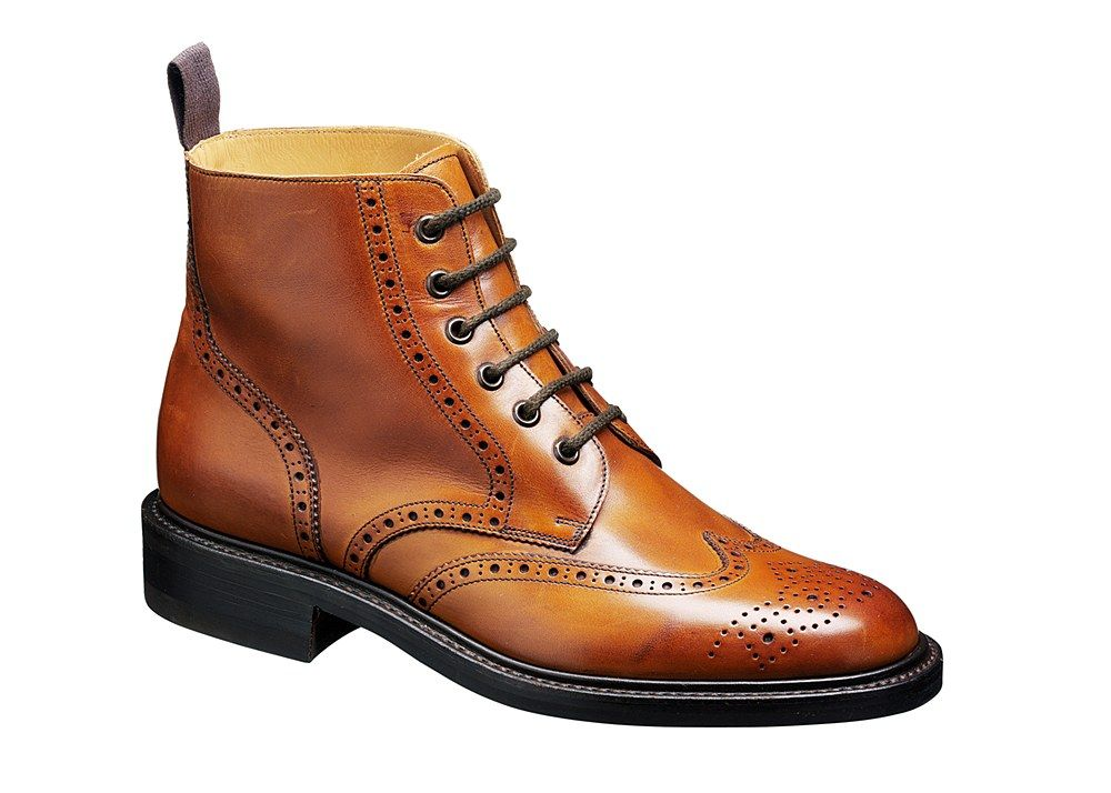 Barker Harrison 1611 Mens Brogue Lace Up Country Boot