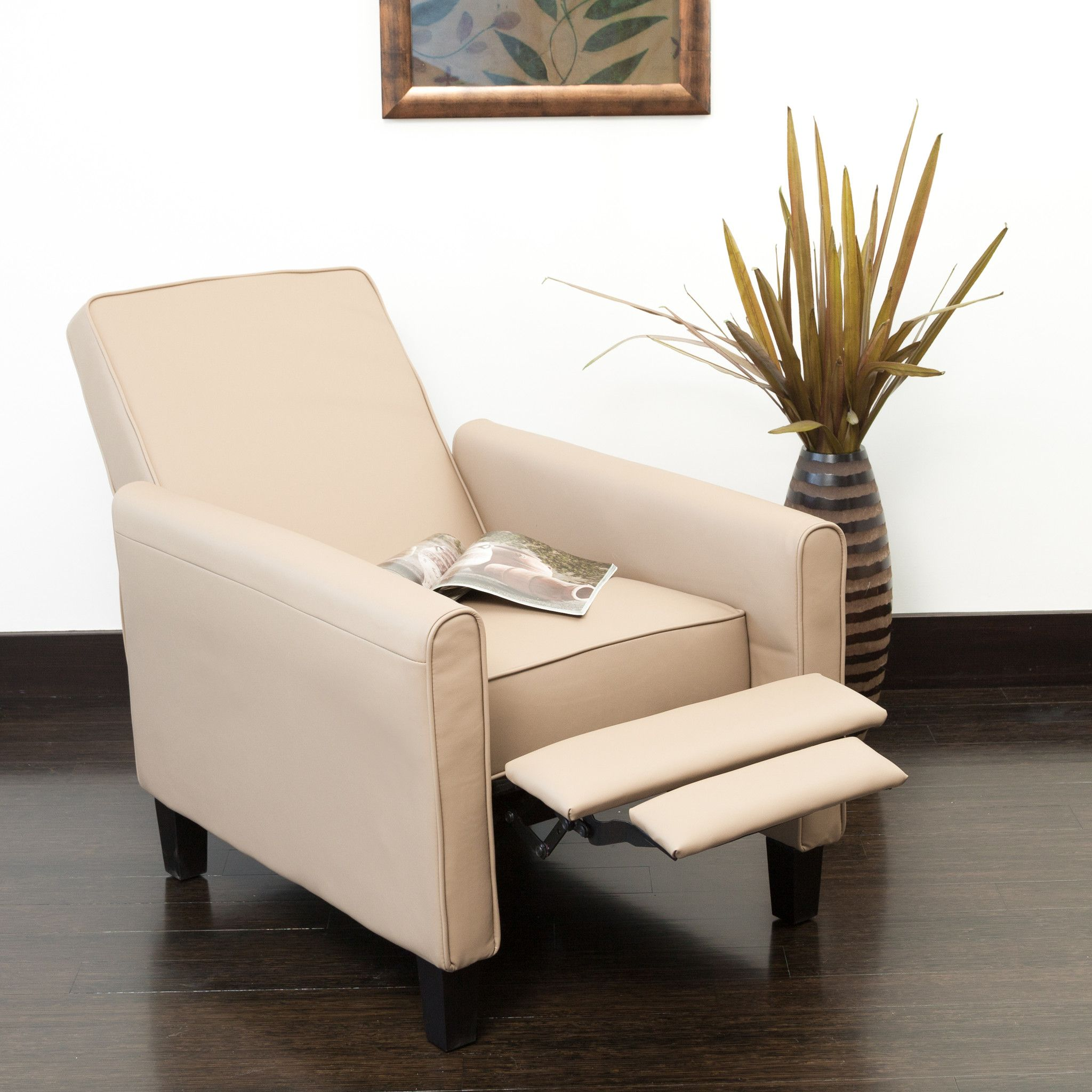 darvis leather recliner club chair brown christopher knight home thomas the train lucas camel products