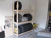 homemade tire rack | For the Home | Pinterest | Tire rack ...