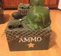 Camouflage party centerpiece | Crafted By Me | Pinterest ...