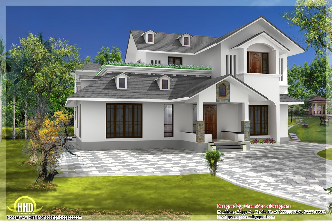 Sloping Roof Home With Vastu Shastra Norms Home Appliance