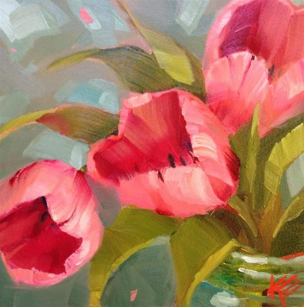 Dpw Fine Art Friendly Auctions - Pink Teal Krista