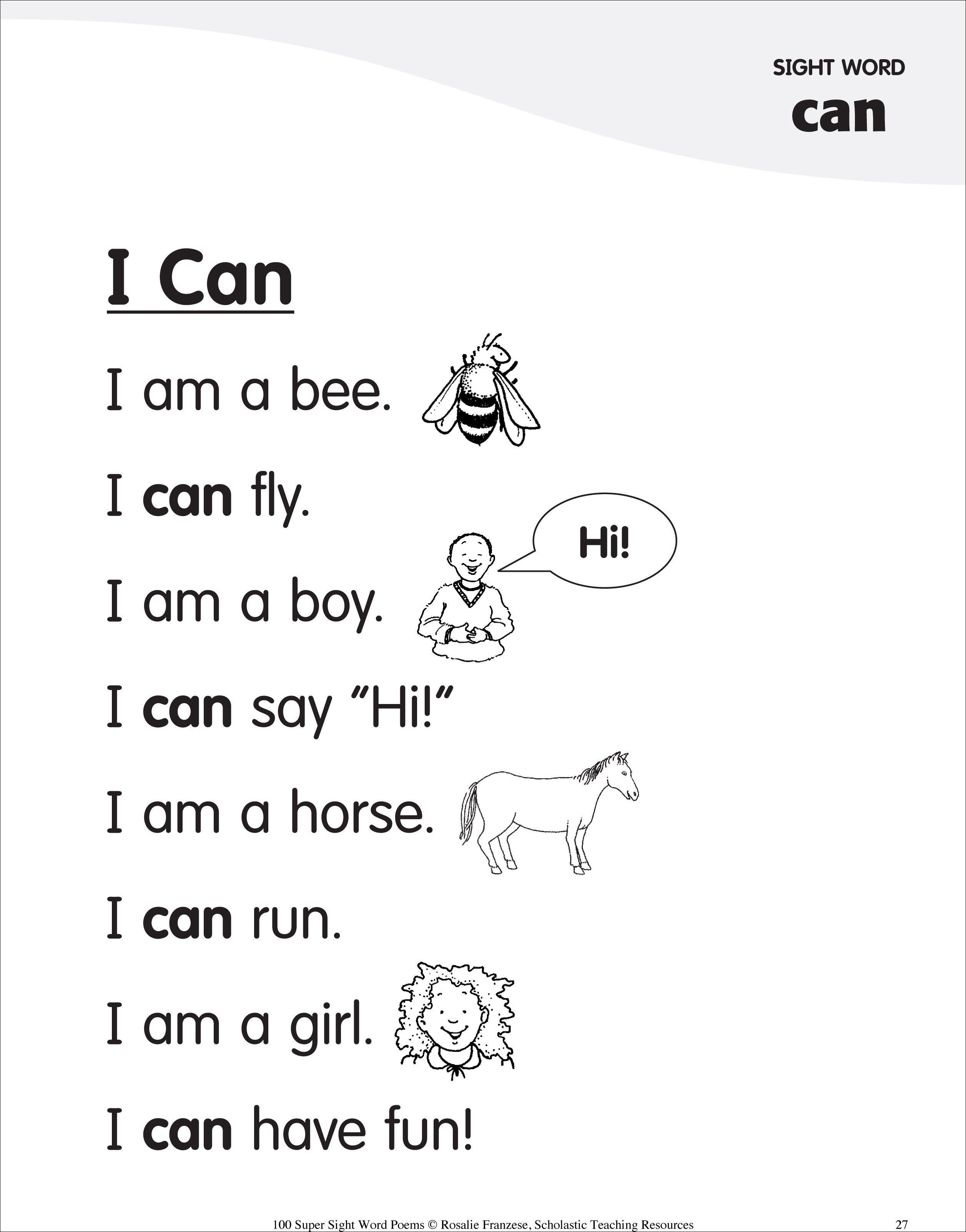 Rhyming Worksheet Free Kindergarten Spelling Words