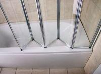 1/2/3/4/5 Folds Folding Chrome Bath Shower Screen Bathroom ...