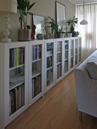 We were looking for mid-height bookcases with glass doors ...