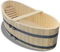 Holz Garten- Badewanne Badezuber 178x87cm inkl. Ablaufhahn ...