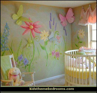 Baby Nursery Decorated With Fairies Baby Nursery Garden Themed