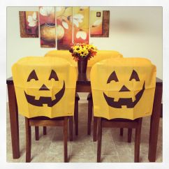 Dollar Tree Pumpkin Chair Covers Portable Fishing Floral Centerpiece With For Our Kitchen Table