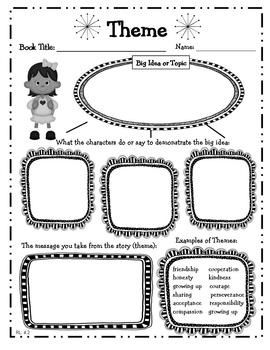 4th Grade Reading Literature Graphic Organizers for Common