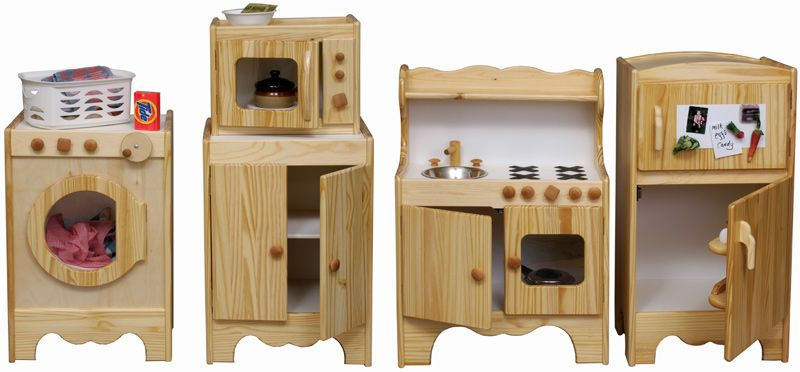 All Wood Kid's Kitchen Set