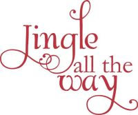 Jingle All The Way Christmas Decoration Vinyl Wall Letter ...