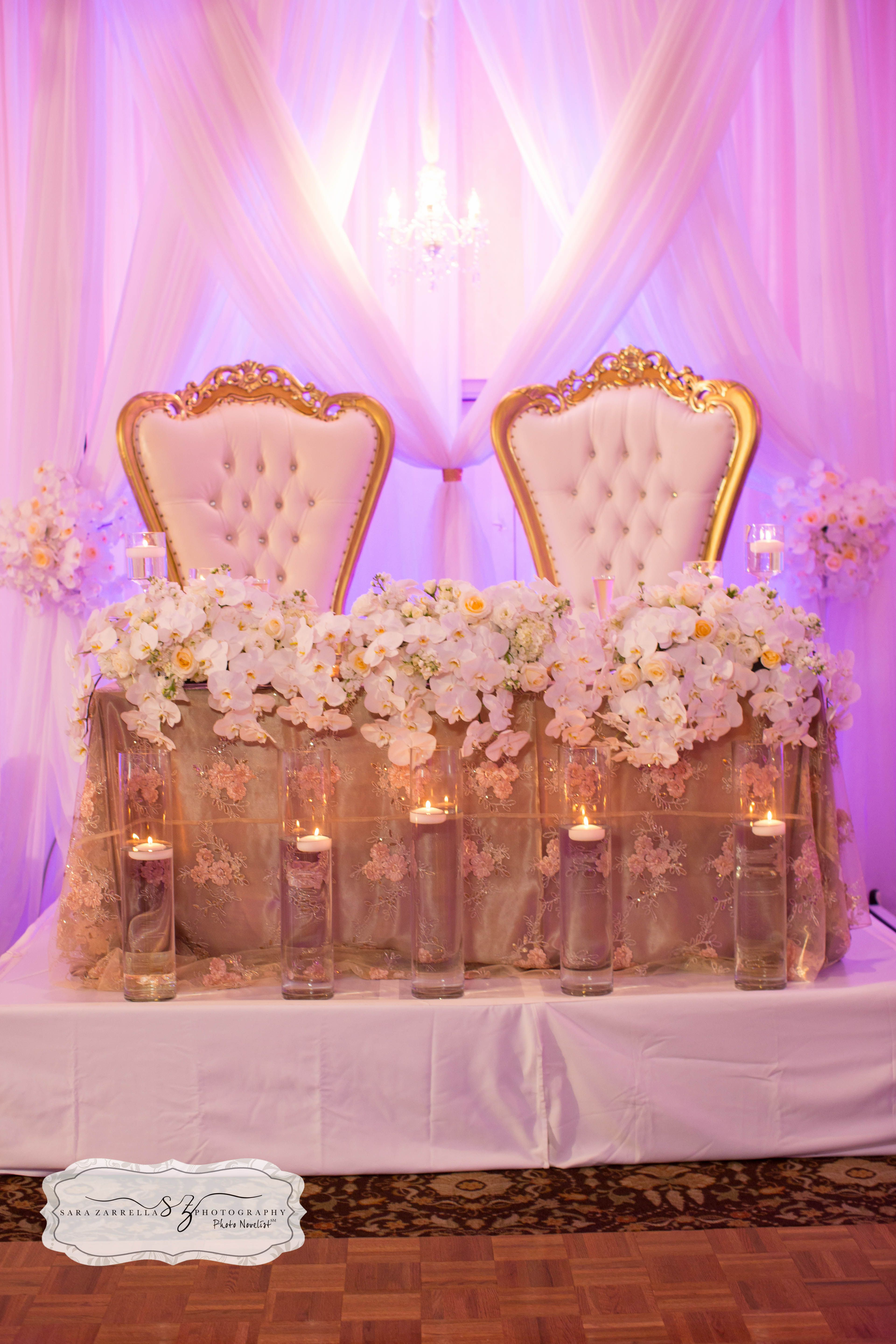 King And Queen Throne Chairs For Rent Sweetheart Table With Our King And Queen Chairs Romance