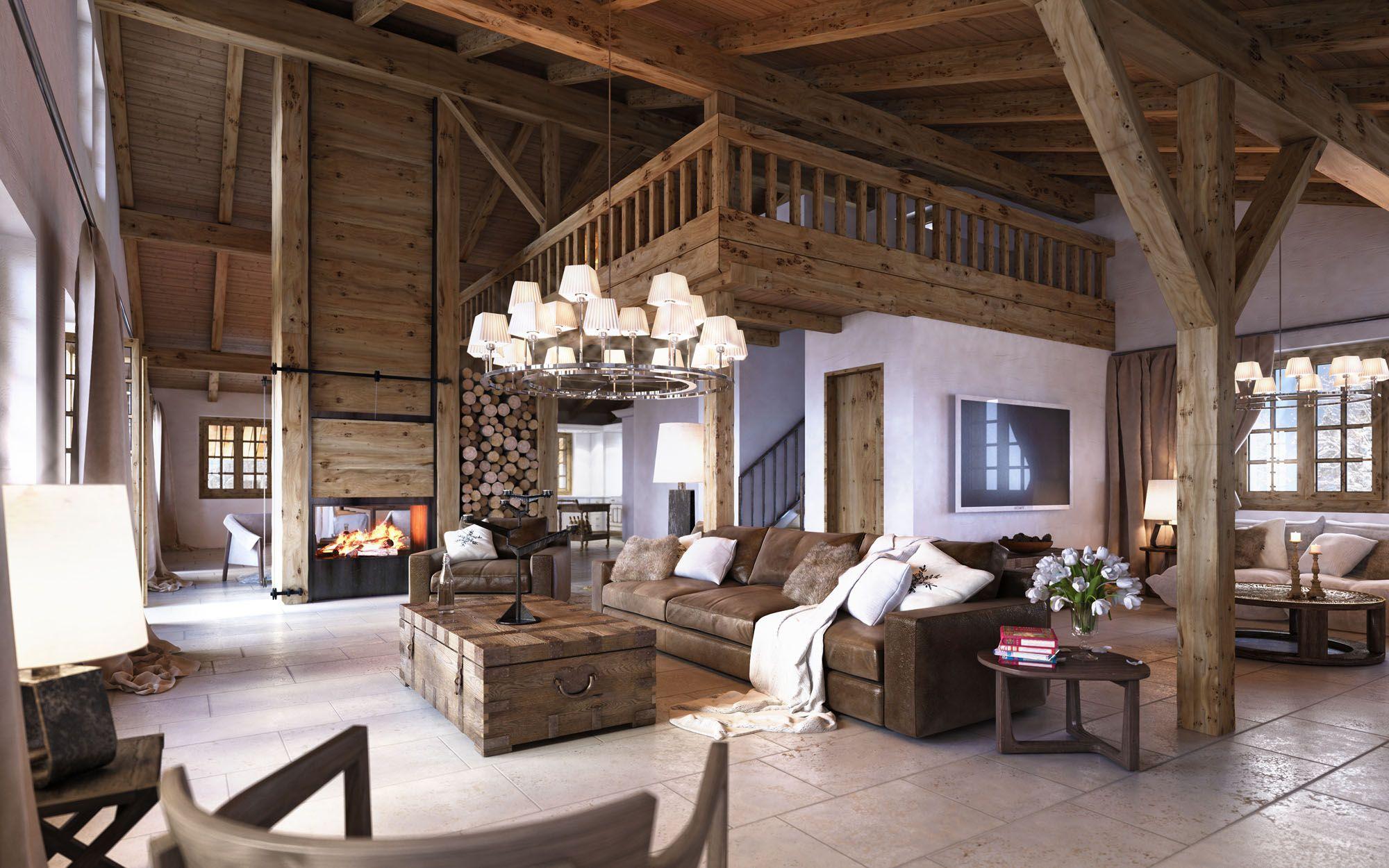 Moderne Innovative Luxus Interieur Ideen Furs Wohnzimmer Winterhaus Design