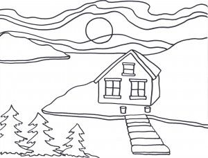 Art activity for young students: Colour like Ted Harrison